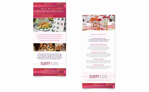 Rack Card Template Word New Corporate event Planner & Caterer Flyer & Ad Template