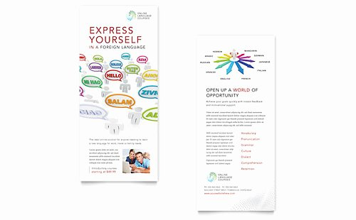 Rack Card Template Word Unique Education & Training Rack Card Templates Word & Publisher