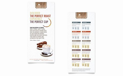 Rack Card Template Word Unique Food & Beverage Rack Card Templates Word & Publisher