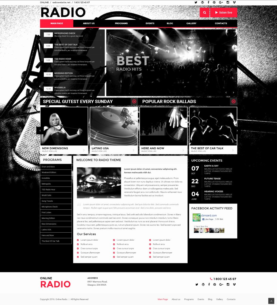 Radio Station Website Template Awesome Web I Templates