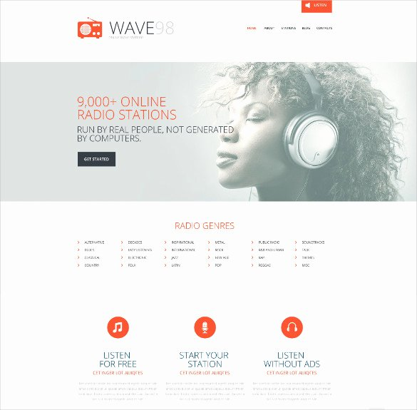 Radio Station Website Template Beautiful 29 Radio Station Website themes & Templates