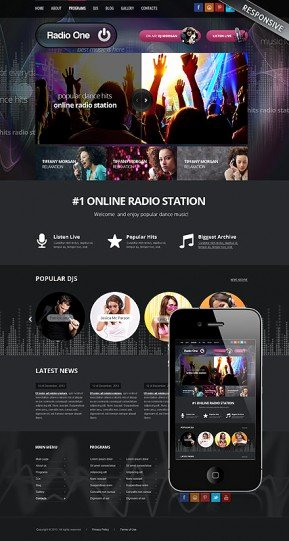 Radio Station Website Template Beautiful Dj Music Bootstrap Template Id From Bootstrap