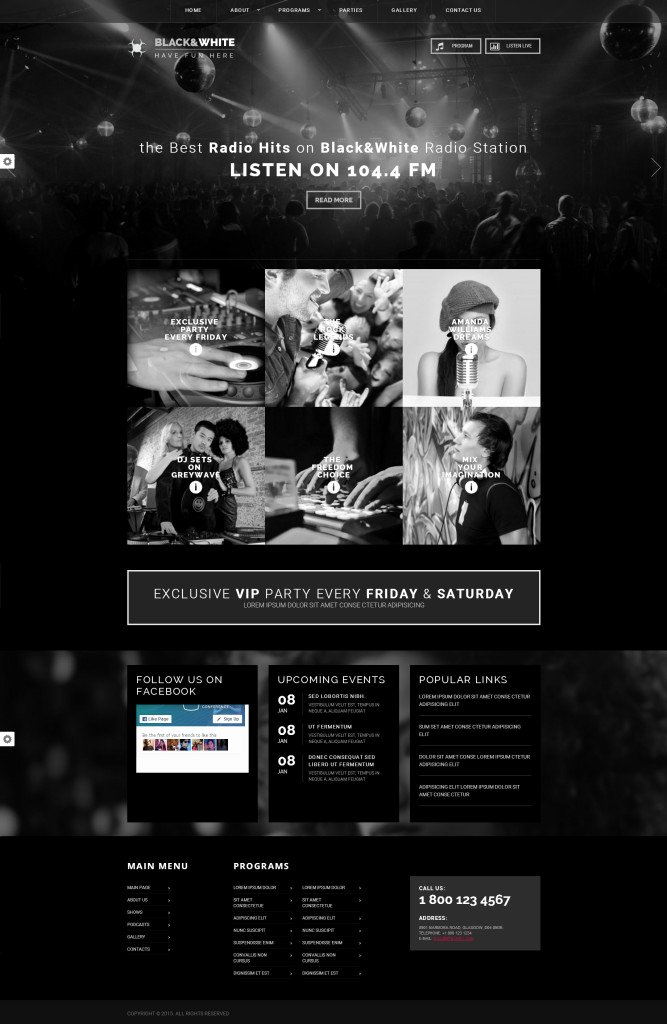 Radio Station Website Template Beautiful Web I Templates