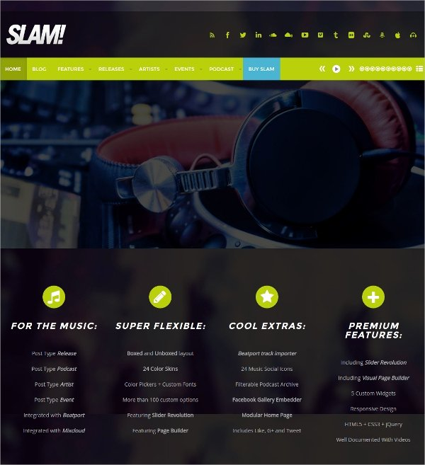 Radio Station Website Template Elegant 16 Radio Station Website themes & Templates