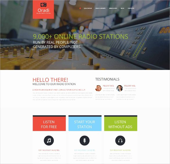 Radio Station Website Template Elegant 29 Radio Station Website themes & Templates