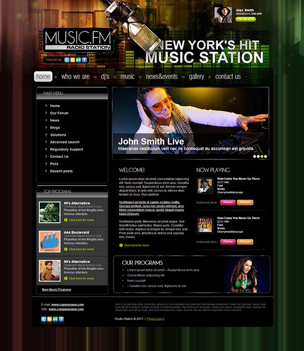 Radio Station Website Template Elegant Music Fm Radio Station Joomla Template On Behance