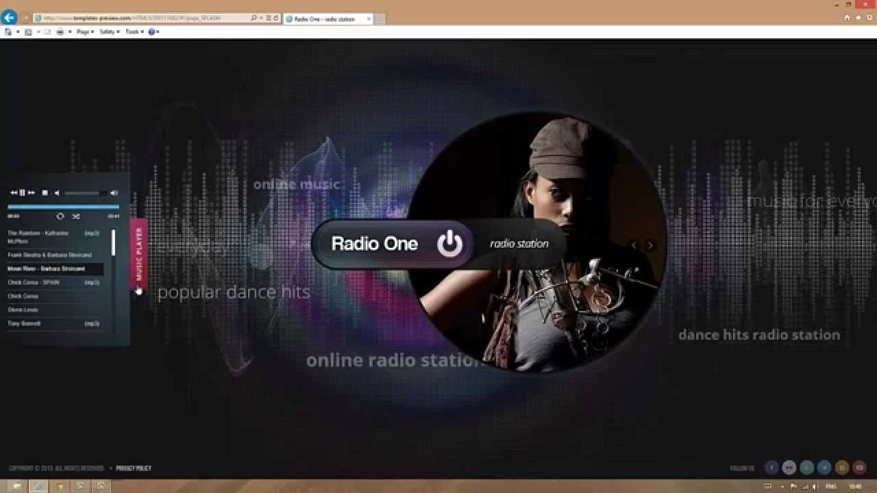 Radio Station Website Template Elegant Radio Station HTML5 Template