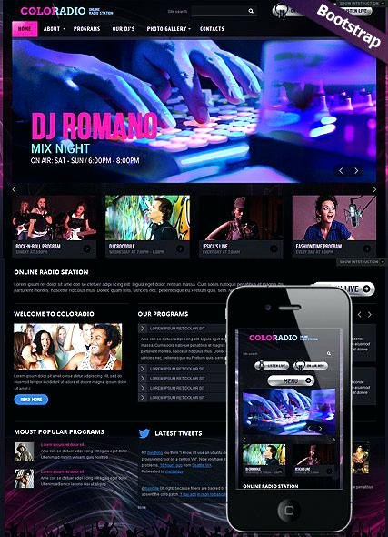 Radio Station Website Template Inspirational Free Radio Station Web Templates HTML Most Popular Blog