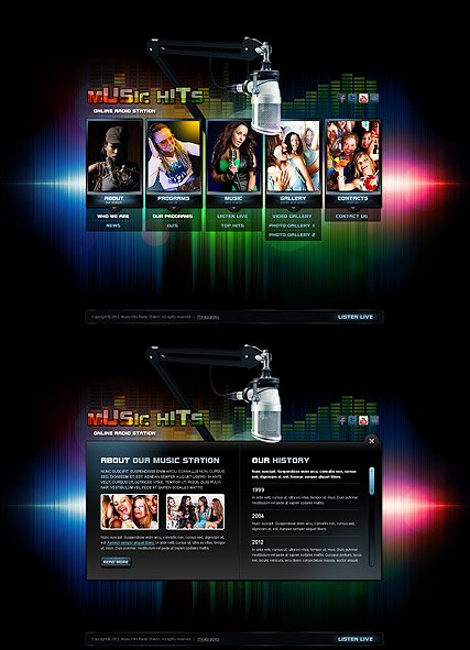 Radio Station Website Template Inspirational Line Radio HTML5 Template Id From Bootstrap