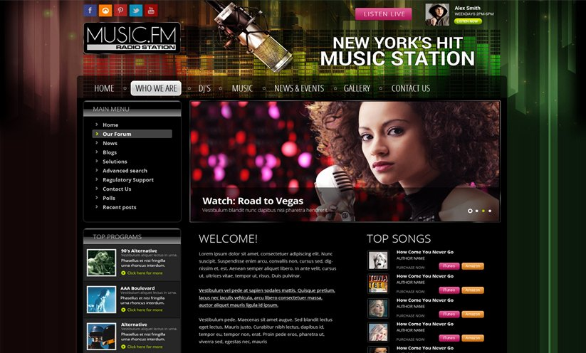 Radio Station Website Template Lovely Joomla Radio Station Template Id