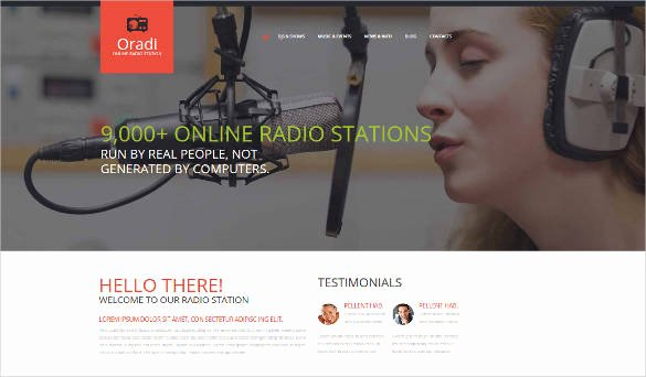 Radio Station Website Template Luxury 29 Radio Station Website themes & Templates