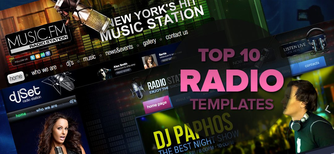 Radio Station Website Template Luxury Radio Station Website Templates