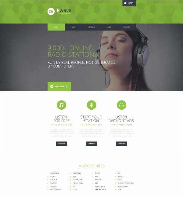 Radio Station Website Template New 16 Radio Station Website themes & Templates