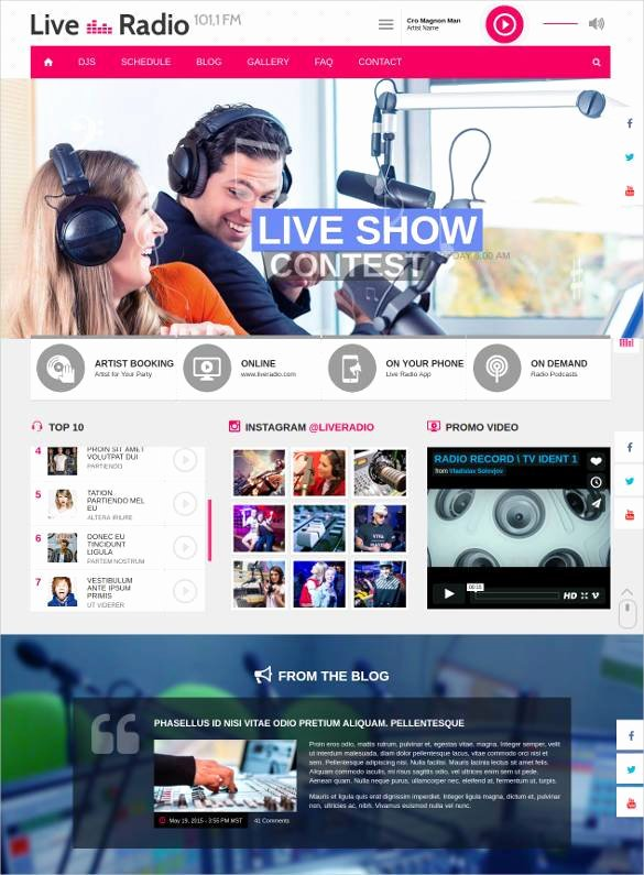 Radio Station Website Template New 29 Radio Station Website themes & Templates