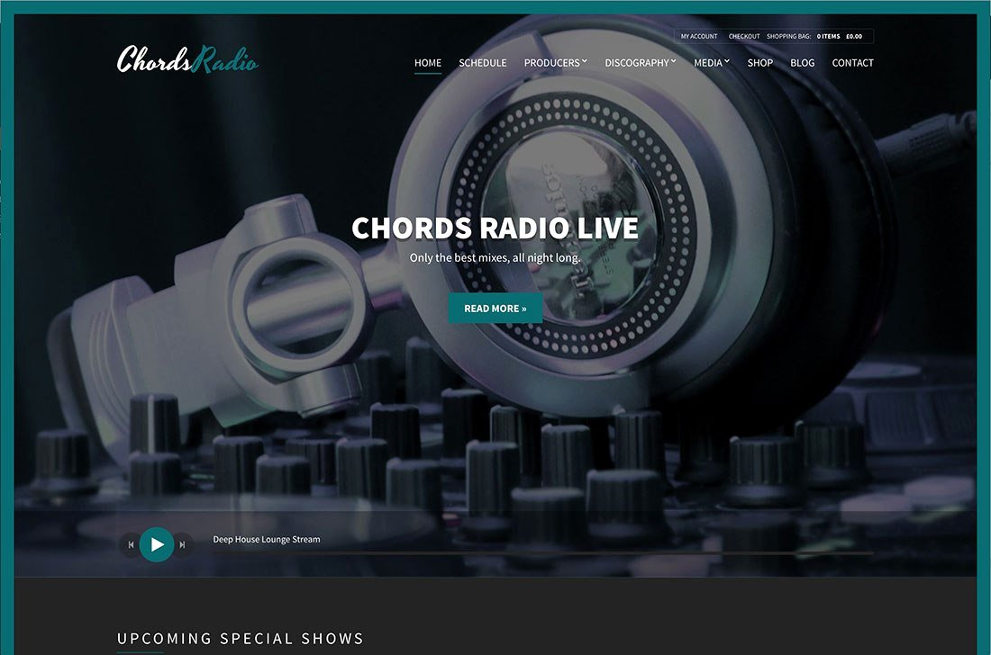Radio Station Website Template New Nightclub – Wordpress theme Reviews