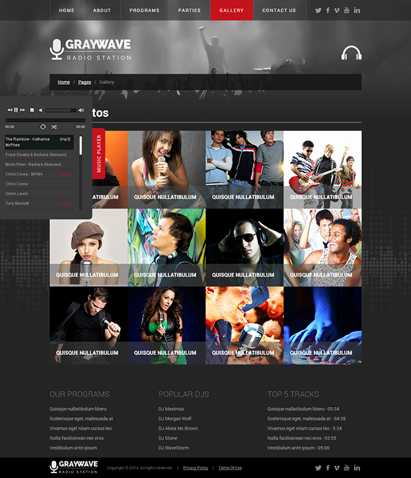 Radio Station Website Template New Radio Station HTML5 Template On Behance