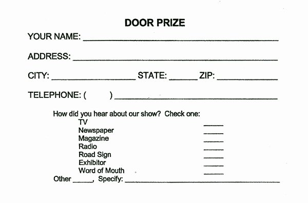 Raffle Entry form Template Best Of Drawing Entry form Template – Versatolelive