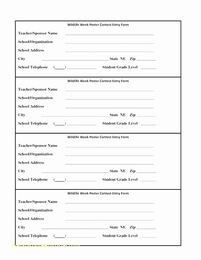 Raffle Entry form Template New Raffle Entry form Template Golf tournament Entry forms