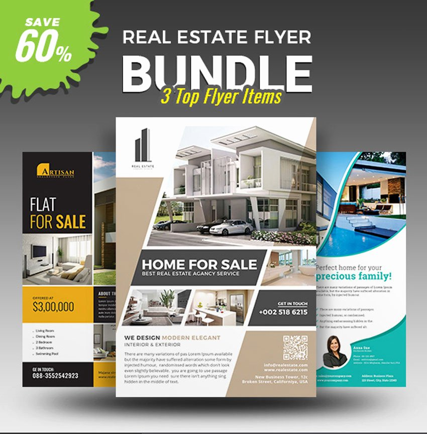 Real Estate Advertisement Template Beautiful 40 Professional Real Estate Flyer Templates