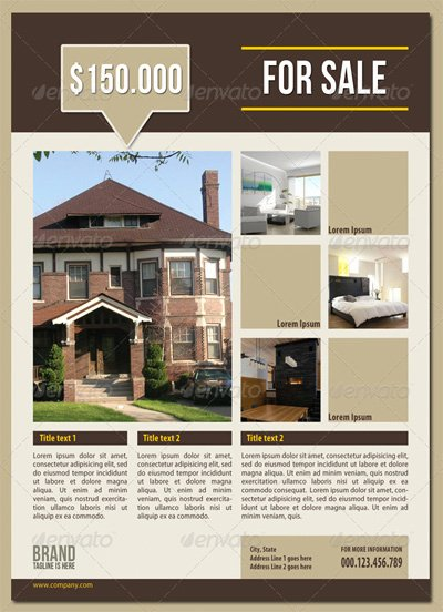 Real Estate Advertisement Template Best Of 15 Real Estate Flyer Templates for Marketing Campaigns