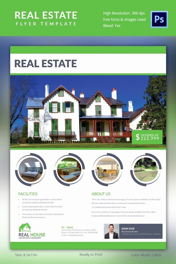 Real Estate Advertisement Template Best Of Real Estate Flyer Template 35 Free Psd Ai Vector Eps