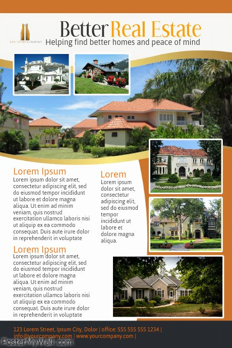 Real Estate Advertisement Template Best Of Real Estate Poster Template
