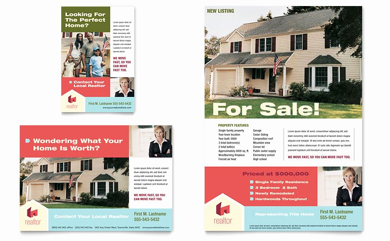 Real Estate Advertisement Template Fresh Home Real Estate Flyer & Ad Template Word & Publisher