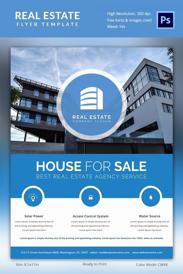 Real Estate Advertisement Template Inspirational Real Estate Flyer Template 35 Free Psd Ai Vector Eps