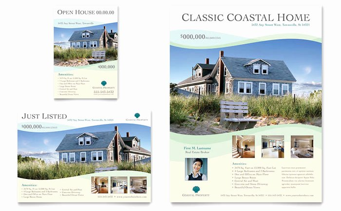 Real Estate Advertisement Template Lovely Coastal Real Estate Flyer & Ad Template Design