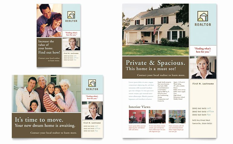 Real Estate Advertisement Template Luxury House for Sale Real Estate Flyer & Ad Template Word