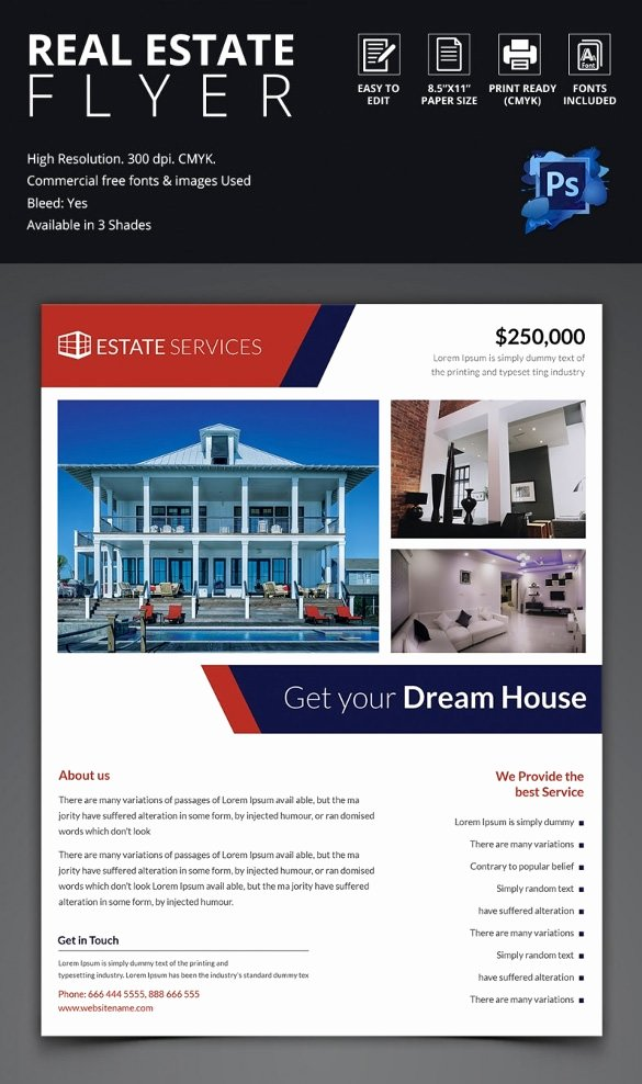 Real Estate Advertisement Template New 41 Psd Real Estate Marketing Flyer Templates