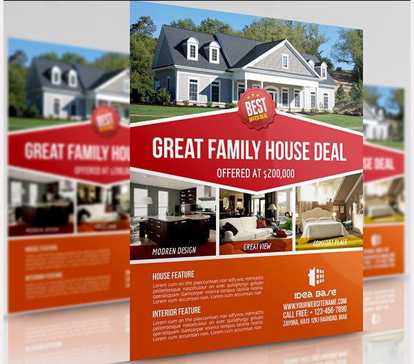 Real Estate Advertisement Template New 44 Psd Real Estate Marketing Flyer Templates