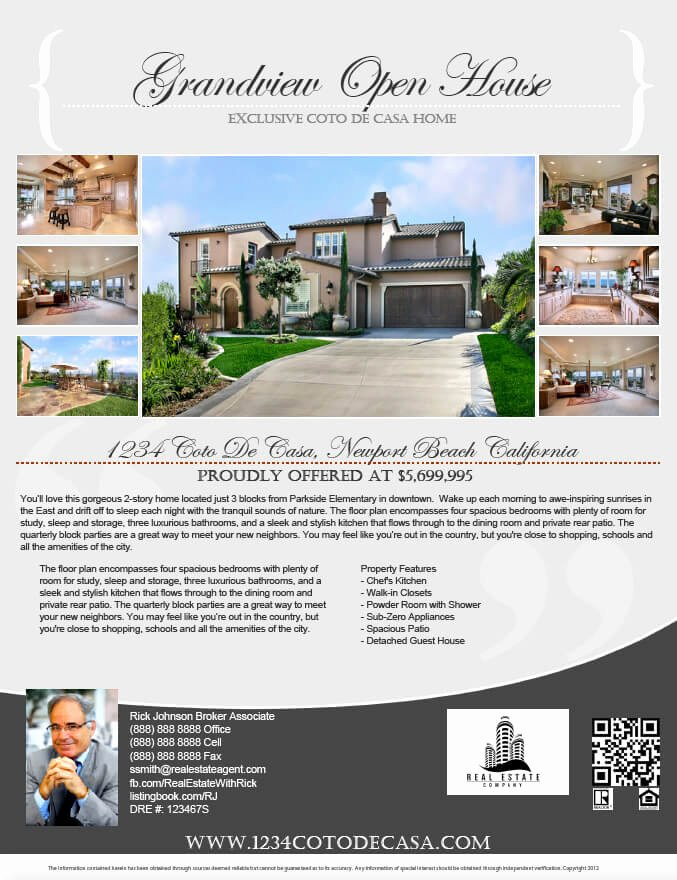 Real Estate Advertisement Template New Real Estate Flyers Pdf Templates Turnkey Flyers