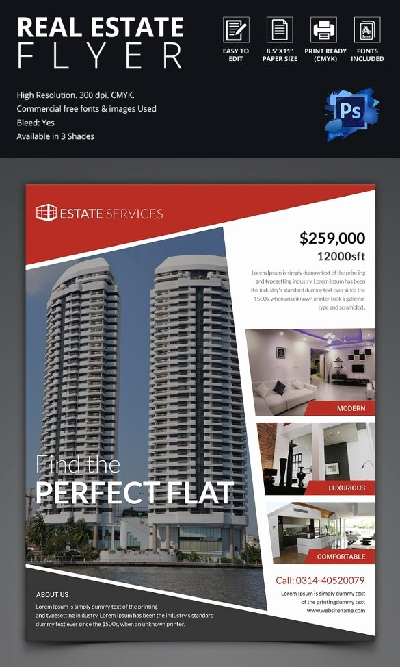 Real Estate Advertisement Template Unique 44 Psd Real Estate Marketing Flyer Templates