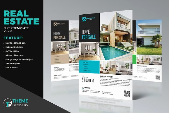 Real Estate Agent Flyer Template Awesome Real Estate Flyer Template Flyer Templates Creative Market