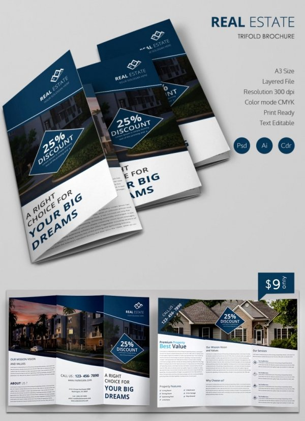 Real Estate Agent Flyer Template Elegant Indesign Real