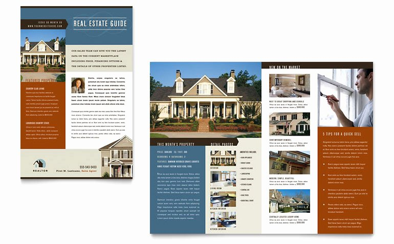 Real Estate Agent Flyer Template Elegant Residential Realtor Newsletter Template Word & Publisher