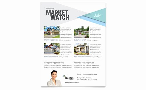 Real Estate Agent Flyer Template Inspirational Real Estate Flyer Templates Word & Publisher