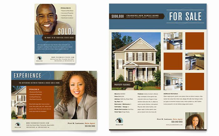 Real Estate Agent Flyer Template Inspirational Residential Realtor Flyer & Ad Template Design