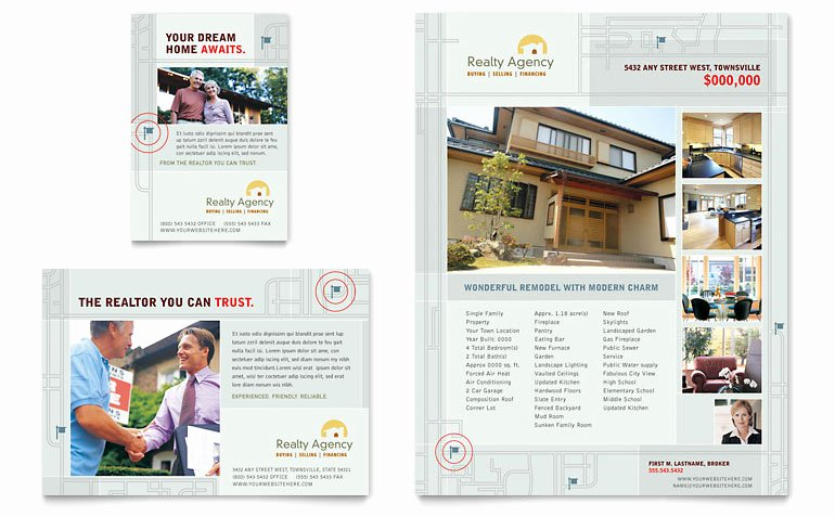 Real Estate Agent Flyer Template Unique Real Estate Agent & Realtor Flyer & Ad Template Word