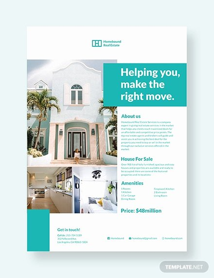 Real Estate Flyer Template Psd Awesome 50 Real Estate Marketing Flyer Templates Word Psd Ai