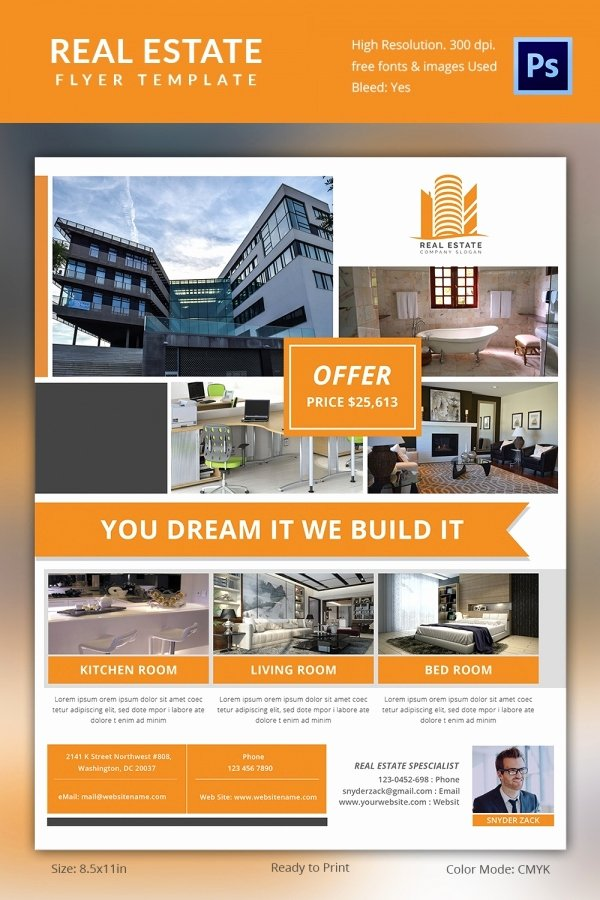 Real Estate Flyer Template Psd Awesome Real Estate Brochures Templates Invitation Template