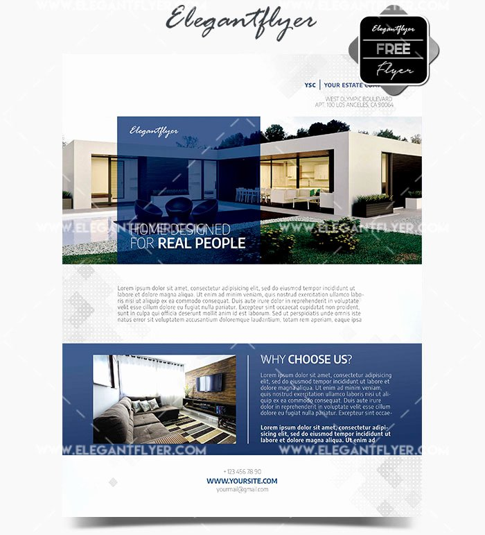 Real Estate Flyer Template Psd Awesome Real Estate Template – Free Psd Flyer Free Psd Flyer
