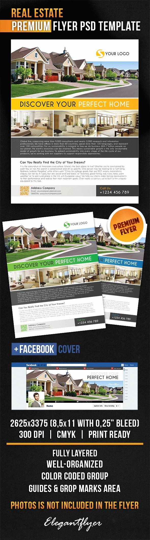 Real Estate Flyer Template Psd Beautiful Real Estate Flyer – by Elegantflyer