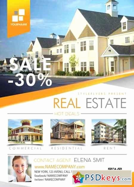 Real Estate Flyer Template Psd Beautiful Real Estate Psd Flyer Template Free Download Shop