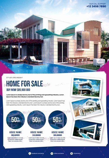 Real Estate Flyer Template Psd Beautiful Real Estate Psd Flyer Template Styleflyers