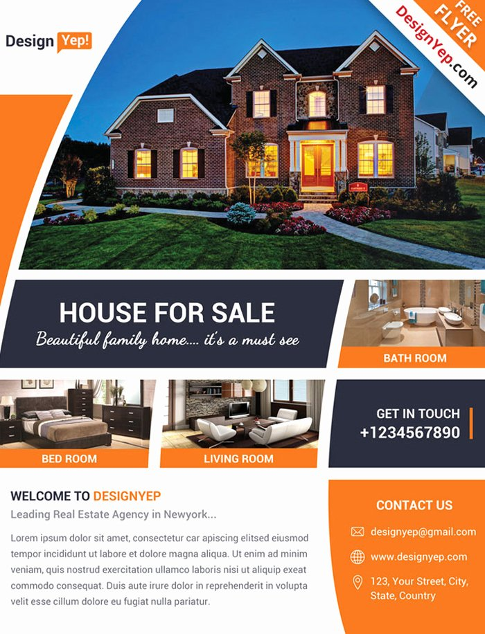 Real Estate Flyer Template Psd Best Of 17 Free Real Estate Flyer Psd Templates Designyep