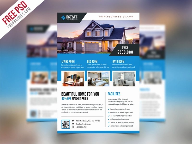 Real Estate Flyer Template Psd Best Of Free Psd Clean Real Estate Flyer Psd Template by Psd