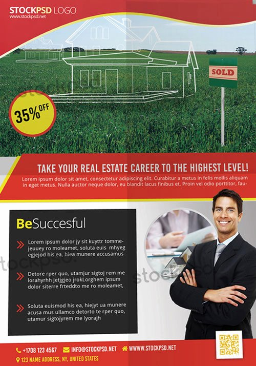 Real Estate Flyer Template Psd Best Of Free Real Estate Psd Flyer Template Download for Shop