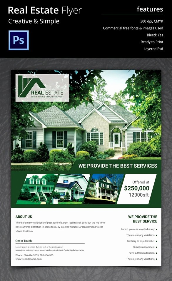 Real Estate Flyer Template Psd Best Of Real Estate Flyer Template 37 Free Psd Ai Vector Eps